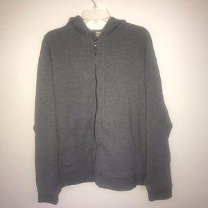 L.L.Bean Vintage Zip-up Hoodie, Gray, XL